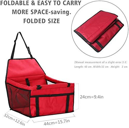 4176113eXPL IvyLife Auto-Hundesitz für Kleine Hunde oder Katzen Transporttasche verstellbar aus Oxford-Stoff Wasserdicht…