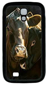 Cool Painting Samsung Galaxy I9500 Case and Cover -In The Mood Cow Custom PC Soft Case Cover Protector for Samsung Galaxy S4/I9500