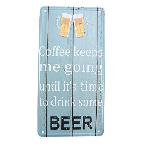 VORCOOL El café me Mantiene en Marcha hasta Que es Hora de Beber un Poco de Placa de Cerveza Letrero de Metal decoración de...