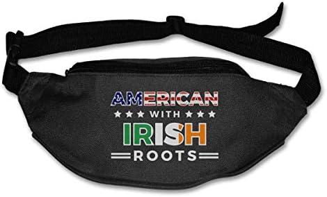 アイルランドのルーツを持つ男女兼用屋外ファニーパックベルトバッグスポーツウエストパック