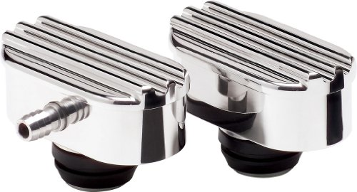 Billet Specialties 21950 Oval Ribbed Billet PCV Breather for 1.25
