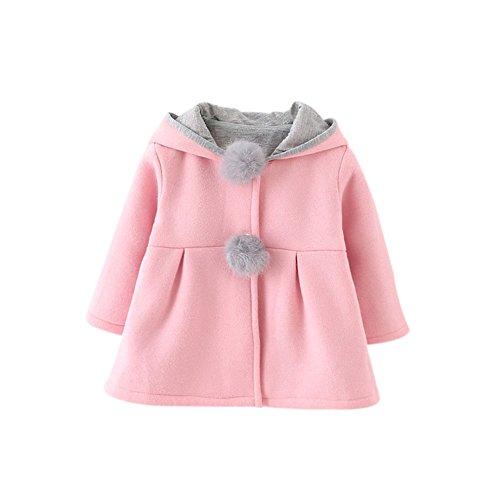 BOBORA Toddler Girl Lovely Ear Winter Warm Coat Baby Hoodie Down Jacket Outwear
