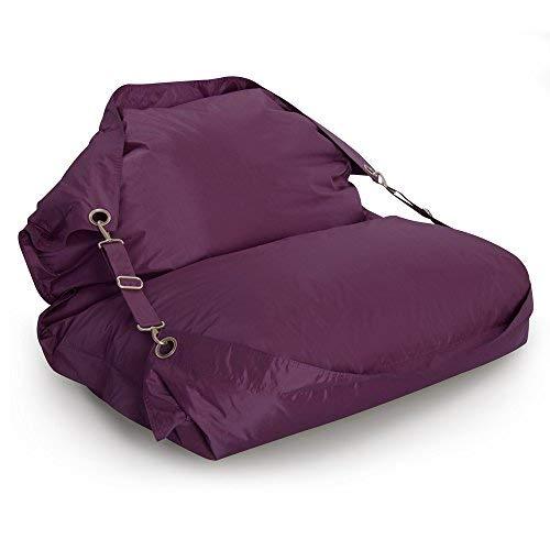 Bazaar bag® Flex, poltrona a sacco gigante. Poltrona a sacco per interno e esterno con cinghie, colore viola mora, di Bean Bag. Bazaar bag® Flex Bean Bag Bazaar®