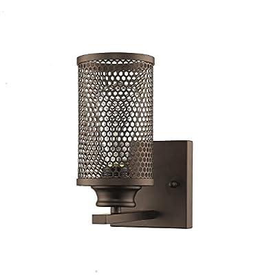 YOBO Lighting Vintage Industrial Metal Mesh Wall Sconce Lighting