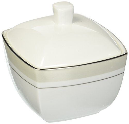 Mikasa Platinum Matrix Covered Sugar Bowl