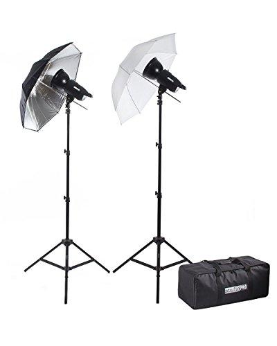 "Fovitec StudioPRO 200W/s Two Strobe Monolight 33"" Umbrella P"