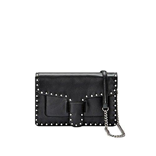 Rebecca Minkoff Women's Midnighter Medium Crossbody w/Chain Black Crossbody Bag