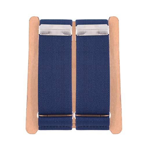 Men's 2PCS Navy Blue Adjustable Shirt Garters Sleeve Holders Armbands 1.4''Width