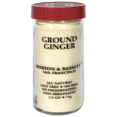 Morton & Bassett Ground Ginger, 2.1-Ounce Jars (Pack of 3)