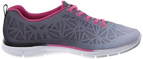 celo de deporte de zapatilla de manera la Skechers deporte Pink Black OBw8Ewq