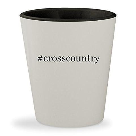 #crosscountry - Hashtag White Outer & Black Inner Ceramic 1.5oz Shot Glass - Karhu Backcountry Ski