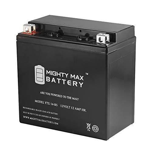 Foreman Atv Battery - Mighty Max Battery YTX14-BS Replacement ATV HONDA TRX 500 Rubicon Foreman Rancher brand product
