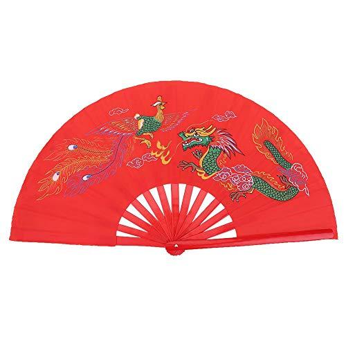 Stevig gemaakt van zijde stof Chinese Fan Duurzame Silk Fan met delicate verf voor dans voor Tai Chi training