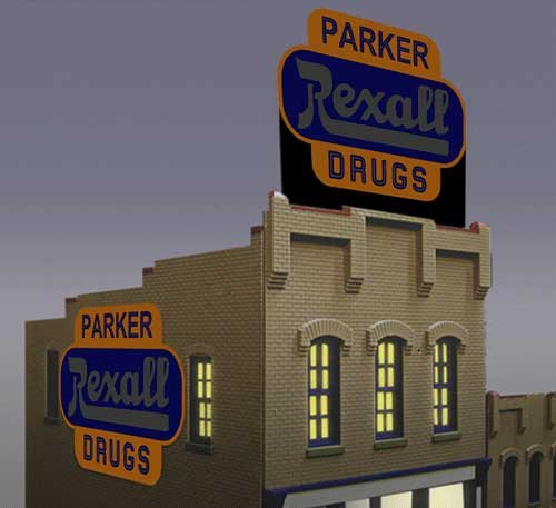 7582 Small Model Rexall Drugs Animated & Lighted Billboard by Miller Signs