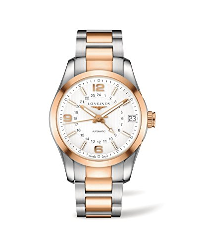 Longines-Conquest-Classic-L27995767-18K-Rose-Gold-Chronograph-GMT-Automatic-Mens
