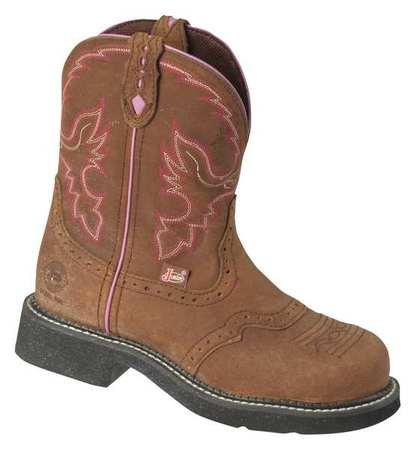 Justin Ladies Aged Bark - Justin Ladies Gypsy Steel Toe 8in Aged Work Boot 8