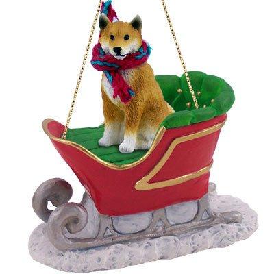 Amazon.com: Shiba Inu Sleigh Dog Christmas Ornament: Home & Kitchen