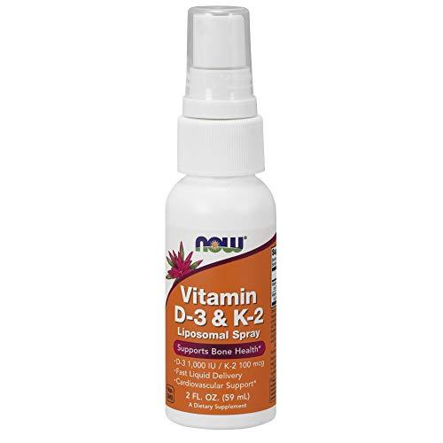 NOW Vitamin D-3 & K-2 Liposomal Spray, 2-Ounce