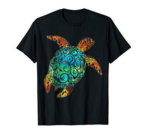 Cosmic Watercolor Sea Turtle