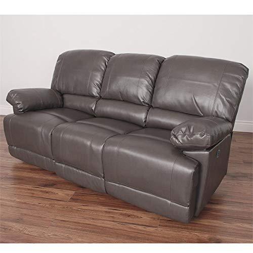 Amazon.com: CorLiving Lea - Sofá reclinable de piel, color ...
