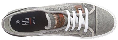 HIS Ct17-037 - Zapatillas Hombre Gris - Grau (washed grey)