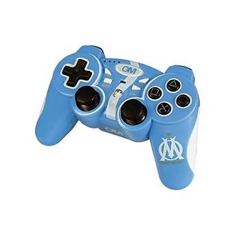 manette bleue Olympique Marseille compatible dp BXURCEI