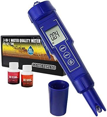Medidor De EC//CF // TDS Digital 3 En 1 Combo Calidad De Agua IP65 Conductividad A Prueba De Agua Con Acuario ATC Kit De Herramientas De Monitoreo Ambiental Laboratorios Hidrop/ónico