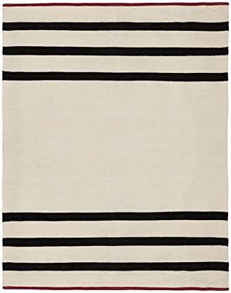 Cala Living Alfombra con Rayas y Ribete, Algodón, Beige y Negro, 150x20x20 cm: Amazon.es: Hogar