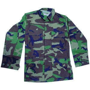 BDU Jacket - Woodland 100% Cotton Ripstop (37-41 Chest 67-71 Length Med/Reg)