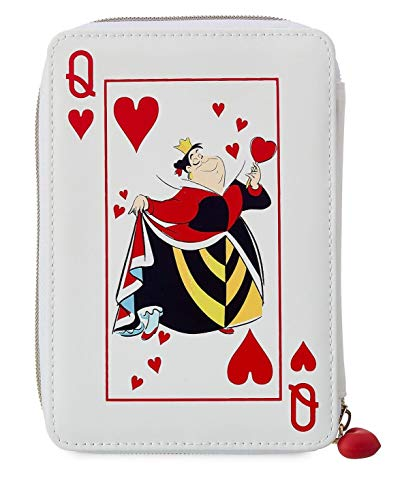 Disney Queen of Hearts Pouch Cosmetic Pencil Travel Case Alice In Wonderland ()
