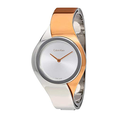 Calvin Klein Senses Silver Dial Stainless Steel Ladies Watch K5N2M1Z6