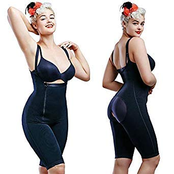 aa1dbdf49e3 Uniqus CR Plus Size 5XL Hot Latex Women s Body Shaper Post Liposuction  Girdle Clip Zip Bodysuit