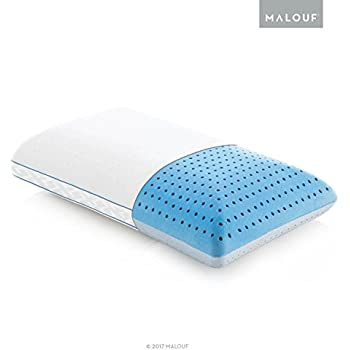 Z CARBONCOOL Plus OMNIPHASE Phase Change Material Memory Foam Pillow - Continual Temperature Regulation with Cool Surface - Queen