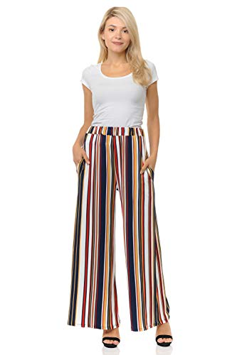 Pastel by Vivienne Women's Striped Palazzo Pants