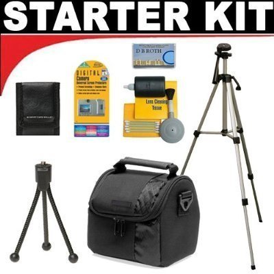 Deluxe DB ROTH Accessory STARTER KIT For The Canon Powershot SX10, SX1, SX110, E1, A2000, A1000, SX100, S5 IS, S3 IS, S2 IS Digital Cameras