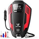VacLife Air Compressor Tire Inflator, DC 12V Air Pump for Car Tires, Bicycles and Other Inflatables, Auto Portable Air Compressor for Car Tires with LED Light & 11.5 Feet Long Power Cord