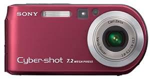 Sony Cybershot DSCP200/R 7.2MP Digital Camera 3x Optical Zoom (Red)