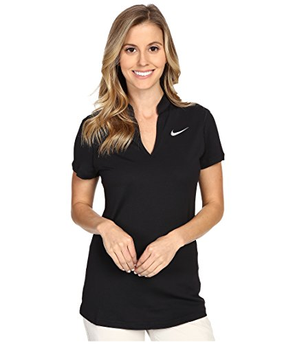 Nike Ace Pique Women's Golf Polo (Black, Small) (Pique Womens Polo Golf)
