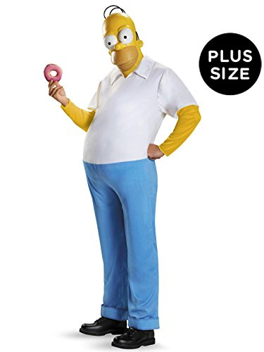 Disguise Men's Homer Deluxe Adult Costume, Multi, -
