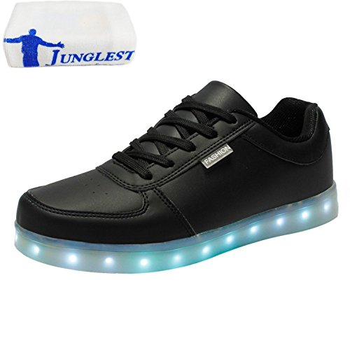 Shoes for small USB towel Boys Light Present Black LED Colors 7 JUNGLEST Flashing Charging Lovers vUCCxPwq
