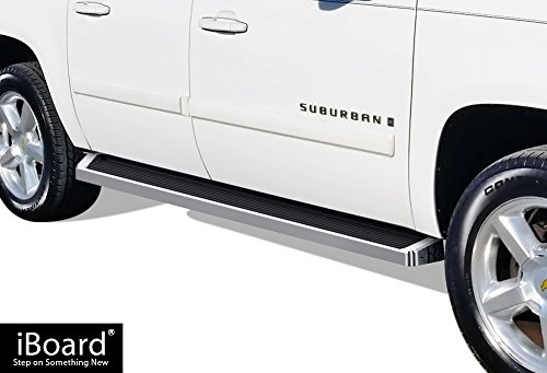 - APS iBoard (Silver Running Board Style) Running Boards | Nerf Bars | Side Steps | Step Rails for 2003-2013 Chevy Avalanche Crew Cab & 2005-2018 Chevy Suburban/GMC Yukon XL
