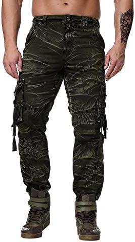 Fubotevic Mens Jogging Casual Multi Pockets Jogger Pants Camo Cargo Harem Pants