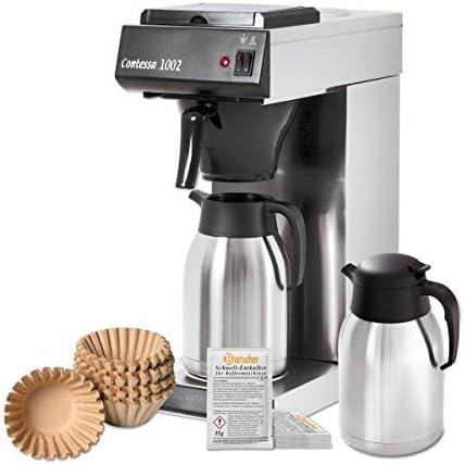 Bartscher Juego Contessa 1002-Cafetera con jarra de repuesto, cesta filtro papel, descalcificador: Amazon.es: Hogar