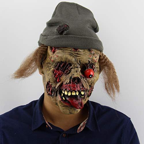 Latex Mascara - Halloween Party Horror Mask Masquerade Anonymous Masks Festival Cosplay Costume Mascaras Para - Headbands Masks Kids Adults Glasses Dinosaur Gold Bulk Party Superhero Masquerad -