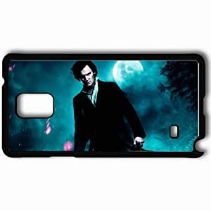 Personalized Samsung Note 4 Cell phone Case/Cover Skin Abraham lincoln vampire hunter benjamin walker abraham lincoln actor moon Movies Black