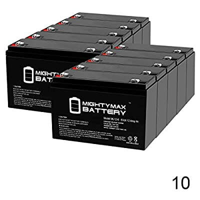 Mighty Max Battery ML12-6 .250TT - 6 Volt 12 AH SLA Battery - Pack of 10 Brand Product: Home & Kitchen