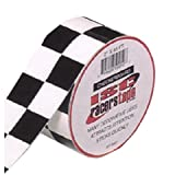 ISC Checkerboard Black and White Checkerboard Tape: 2 in. x 15 yds. (Black/White Square pattern)