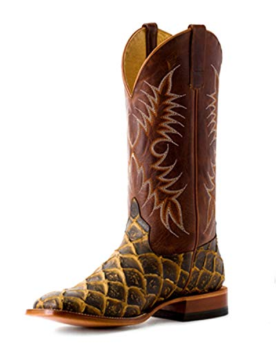 HORSE POWER by Anderson Bean HP1844 Rusty Filet of Fish Moka Sabotage Square Toe Boots (11EE) Brown