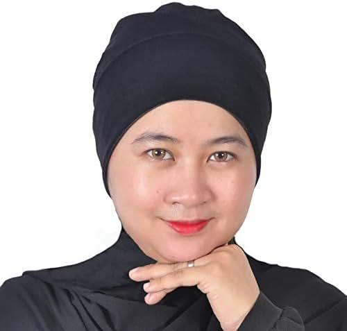 Silk Story Mu LAN Velvet Anti-Slip Turban Under Scarf Wrap Cancer Bonnet Chemo Wear Hair Loss Cover