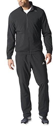 adidas Men's Essentials Woven Tracksuit Track Top Pants Training Set Black S22466 (40/42 Medium)